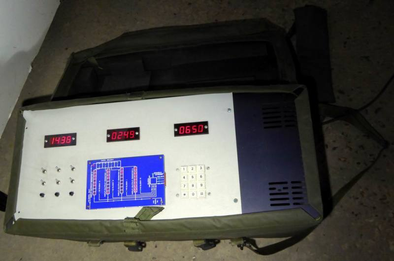 Military soft case with practical control panel