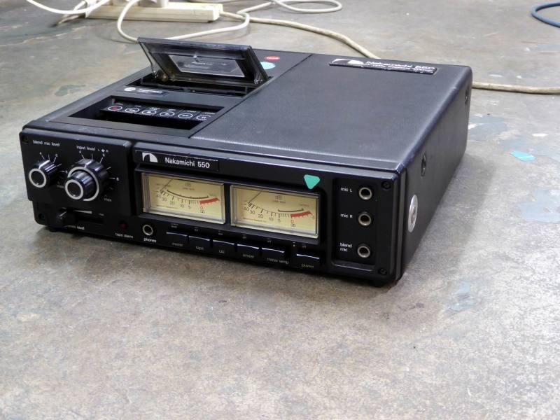 Nakamichi 550 desktop cassette recorder