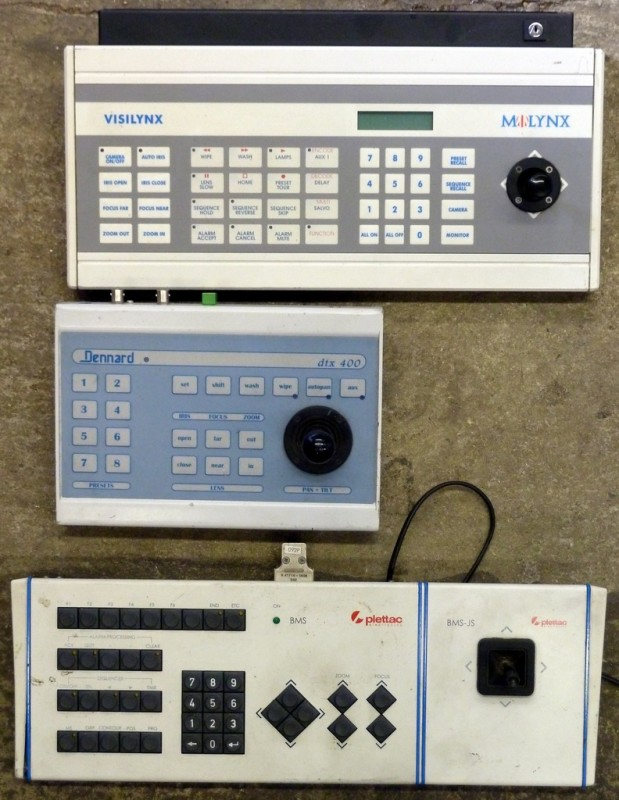 Example Selection of CCTV desk console controllers