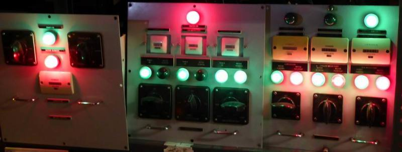 Navy/cold war practical control panels