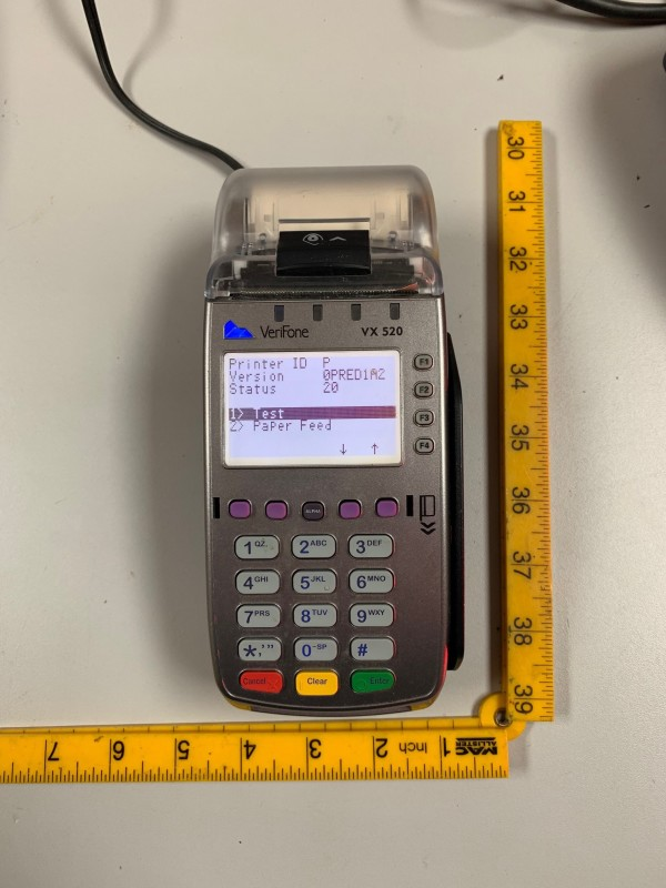 Practical chip and pin PDQ machine (Verifone VX 520)