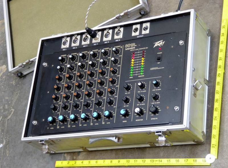 Peavey portable audio mixer in brief case