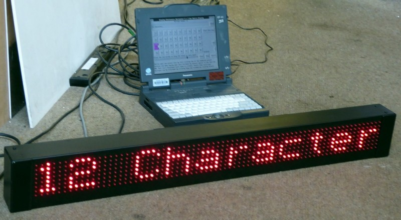 1.1metre 12 character red LED dot matrix sign