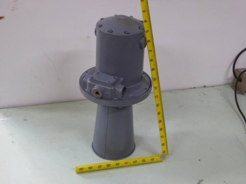 Naval ship klaxon/alarm horn in battleship grey