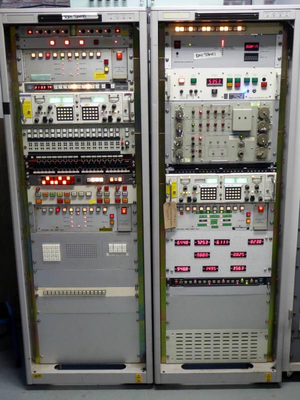 Practical grey electronics racks