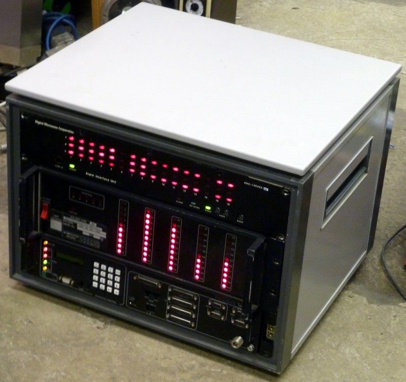 Desktop cabinet with red LED panels (Example)