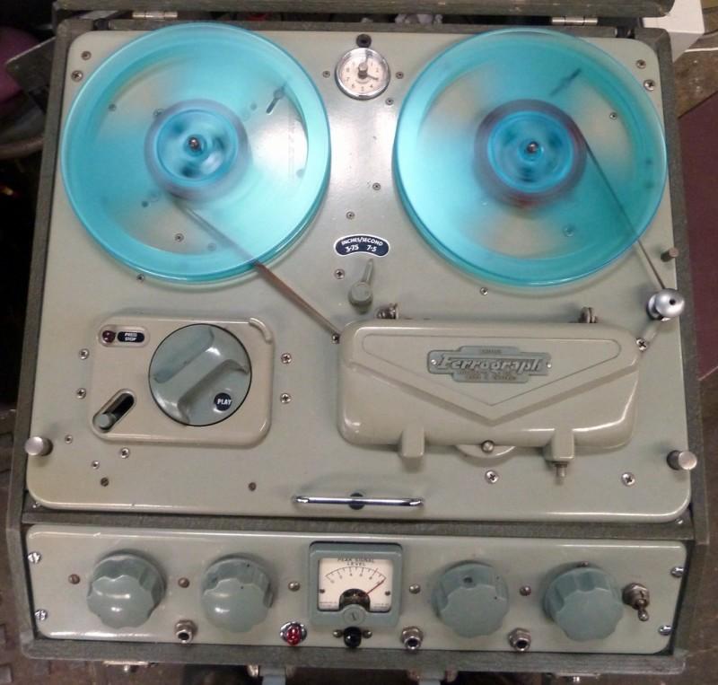 Period Ferrograph reel to reel tape recorder.