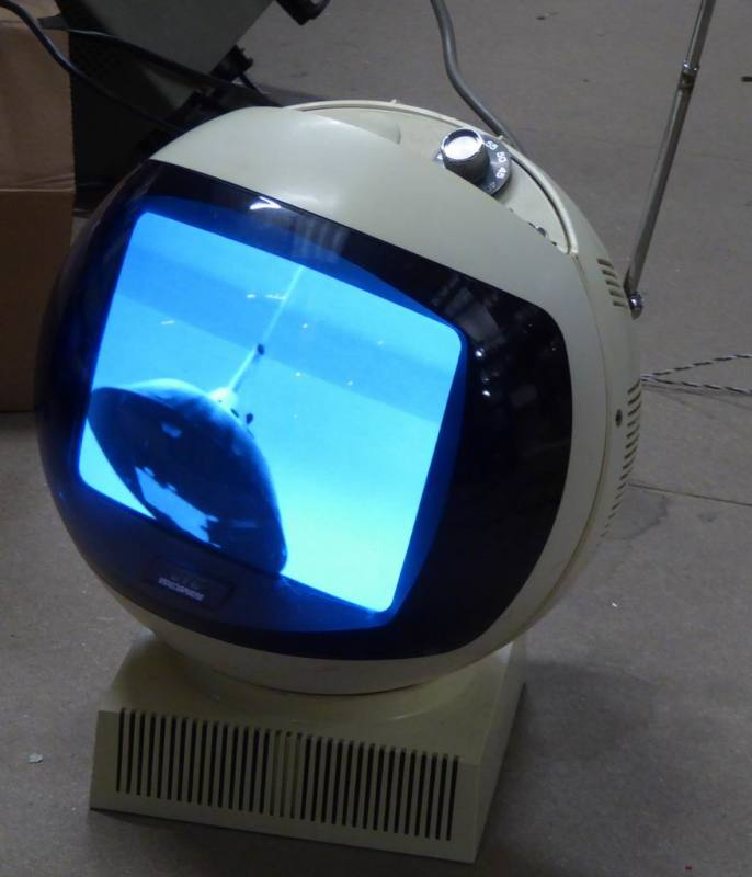 JVC Videosphere space-age 1970s TV - working