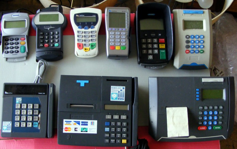 Selection of chip & PIN machines/PDQ terminals