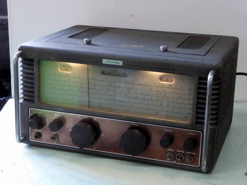 Practical 1950s era Eddystone 770R short wave & VHF radio receiver