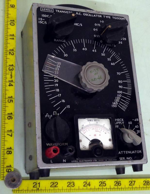 1960s period electronics laboratory audio oscillator TG150DM