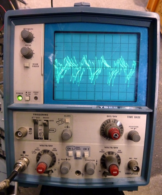 Blue practical Tektronix oscilloscope