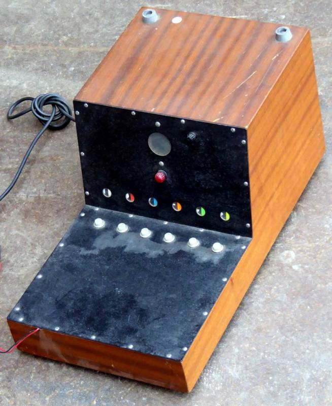 Desktop wooden control box