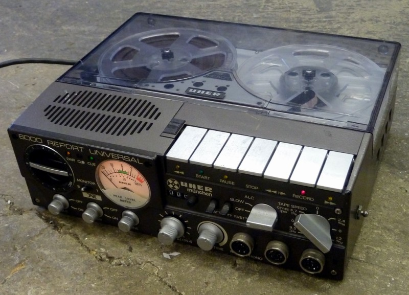 Uher reporter's portable tape recorder