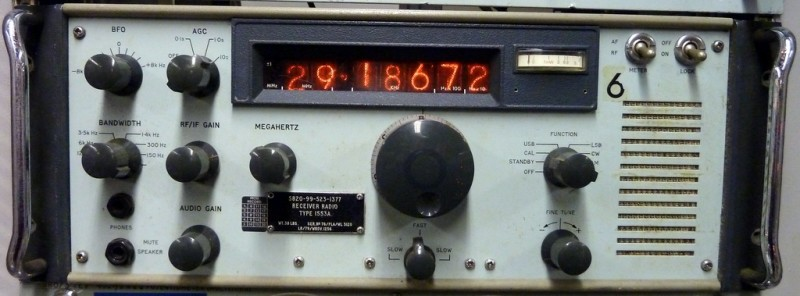 Period Navy radio with nixie tube digital display