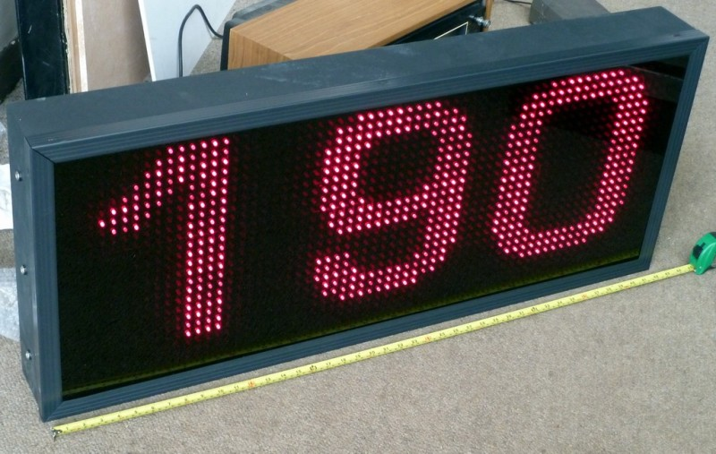 Giant 3 digit LED counter