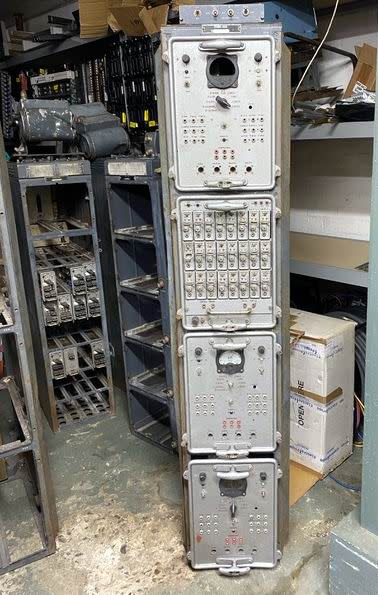 Genuine Soviet/Russian/cold war electronics rack with plugin modules