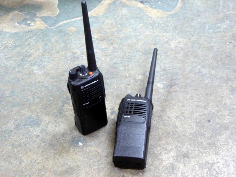 Modern Motorola GP340 Walkie-Talkies