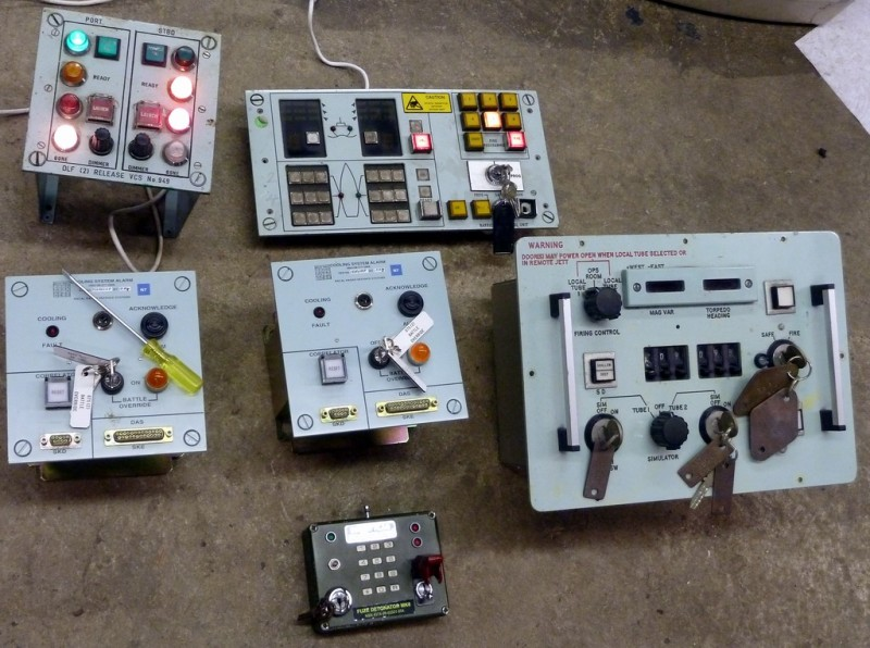 Example Selection of Control panels with key switches & protected switches