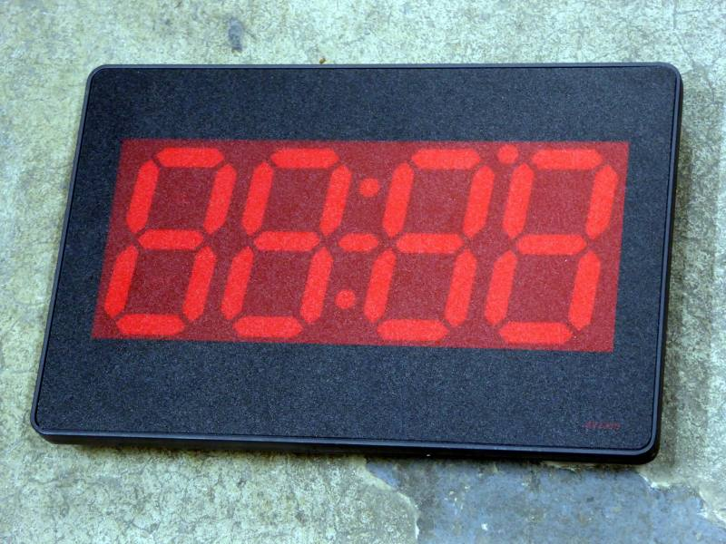 Non-practical 7 segment digital clock