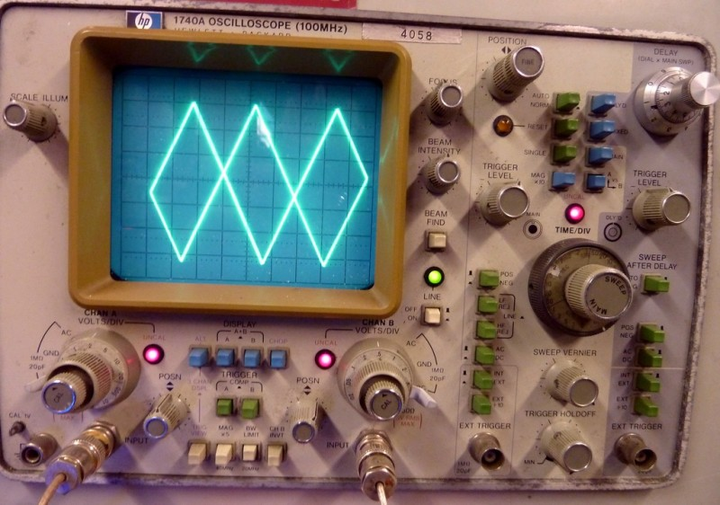 Practical electronics lab bench oscilloscope