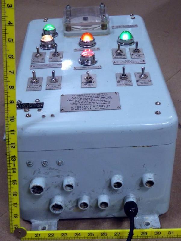 Roundy cornered retro navy electrical box