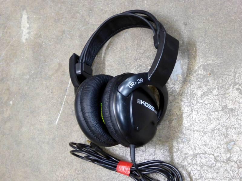 Chunky black professional Koss headphones