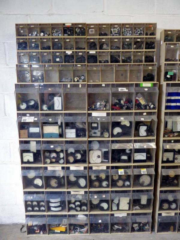 Huge sweep of laboratory/workshop/factory electronic component storage drawers