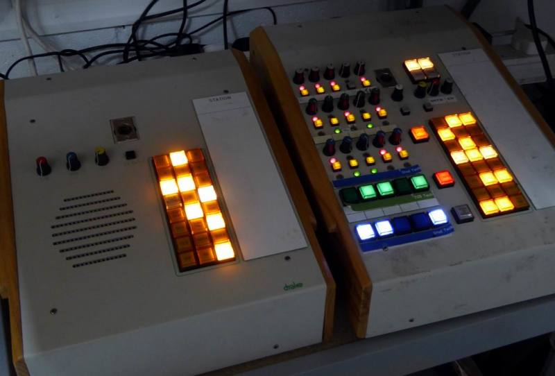 Practical sloping studio control consoles with optional goose neck mic & wooden cheeks
