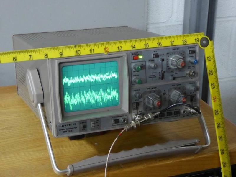 Practical Hameg HM203 electronics laboratory oscilloscope
