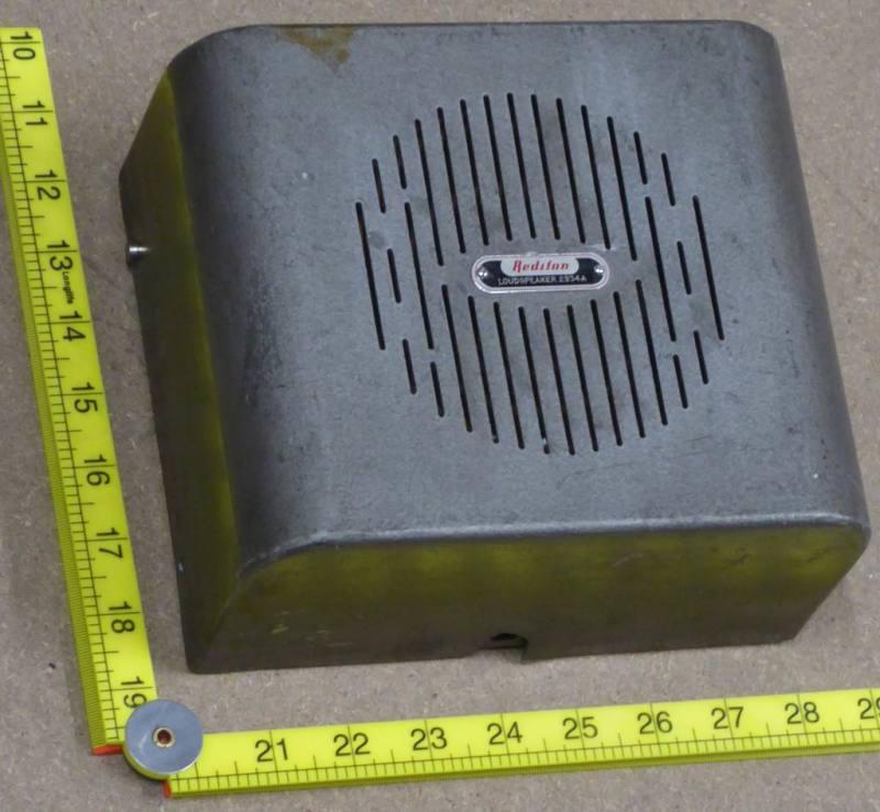 Retro industrial look wall speaker