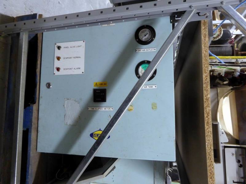 Large Navy electrical box with lamps & gauges