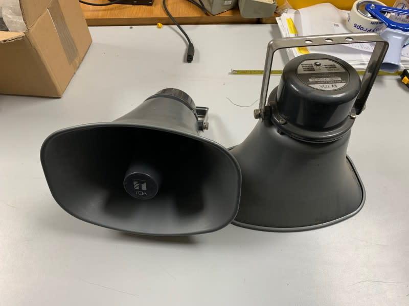 Metallic Grey Loud Speaker Horns