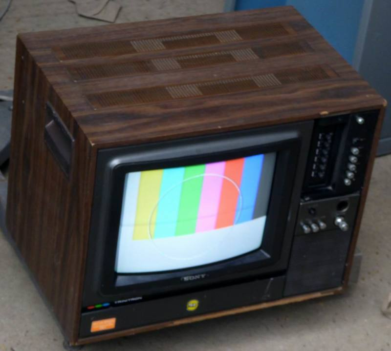 1970s practical Sony Trinitron TV in walnut effect