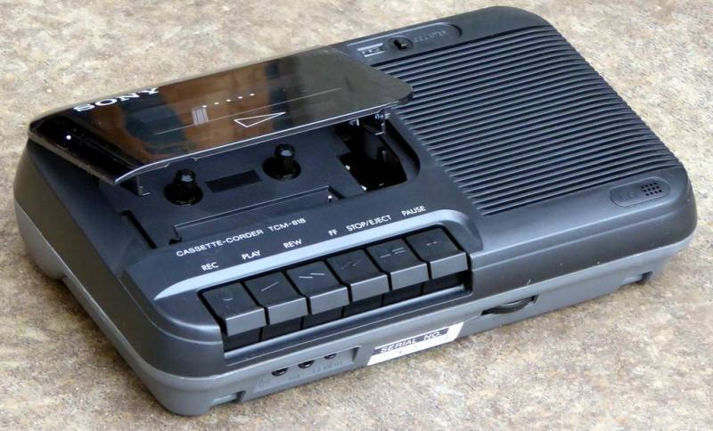 1980s portable Sony casette recorder