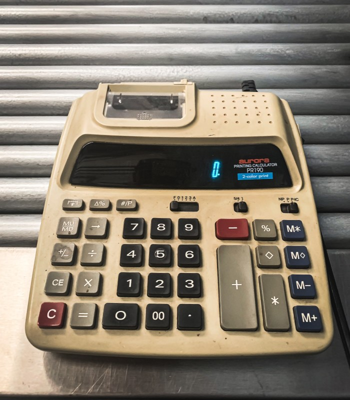 Practical period printing calculator (aurora PR190)