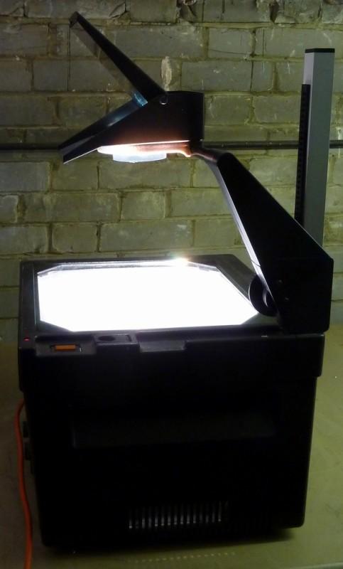 1980s-1990s black overhead projector