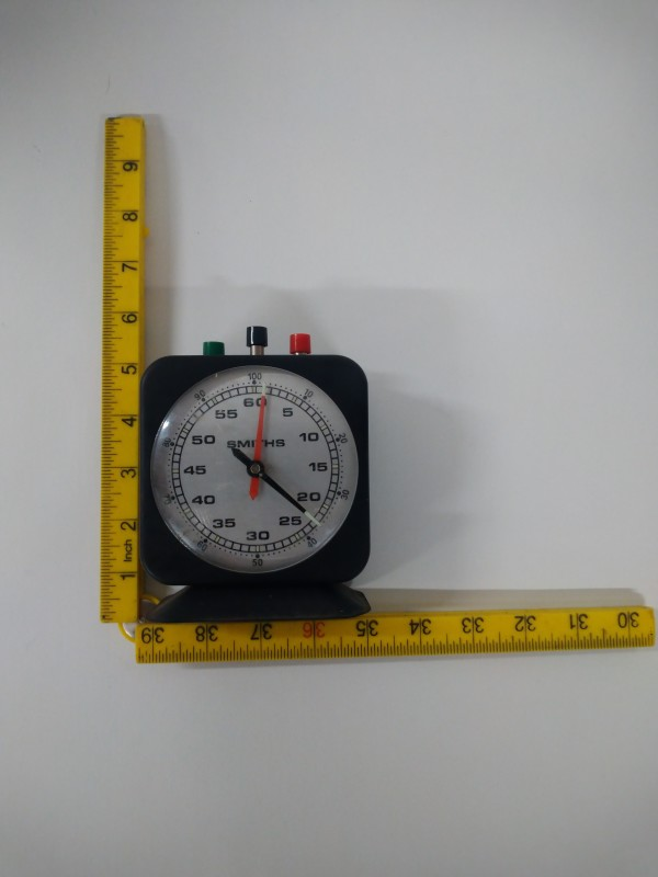 Smiths Laboratory / Darkroom clockwork minutes & seconds analogue timer.