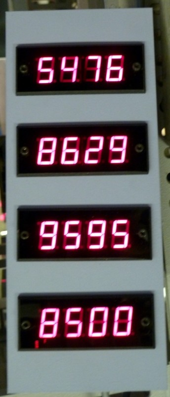 Small practical digital numbers panel