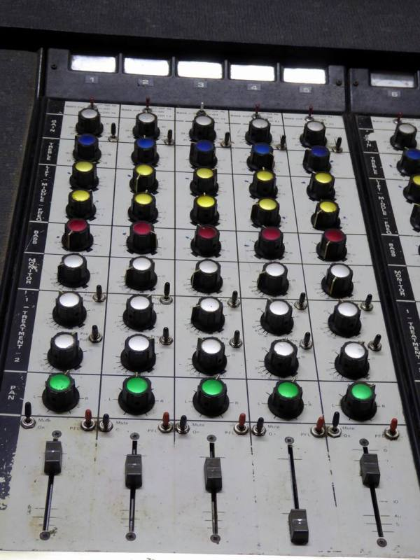 Large practical, period, 20 channel audio mixer for touring/studio. 1960s-1970s