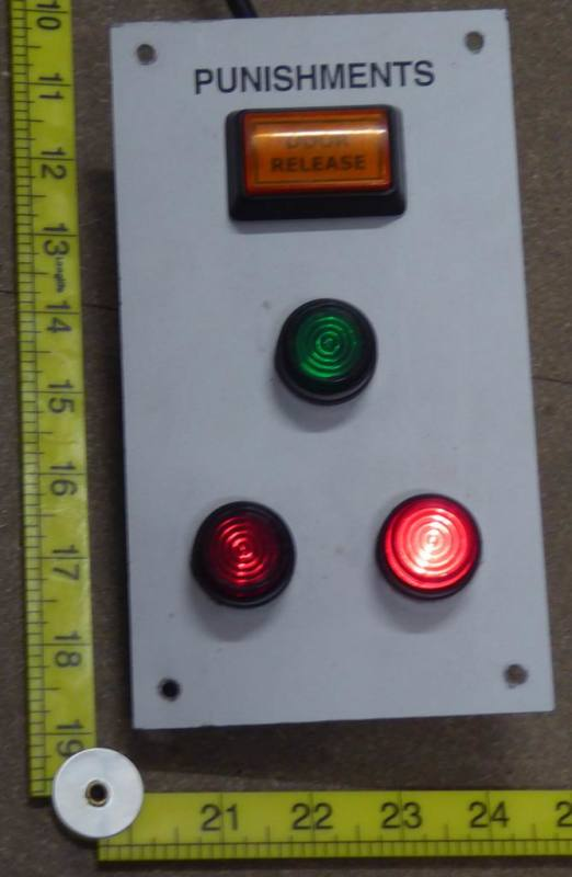 Practical panel with button controlled lamps