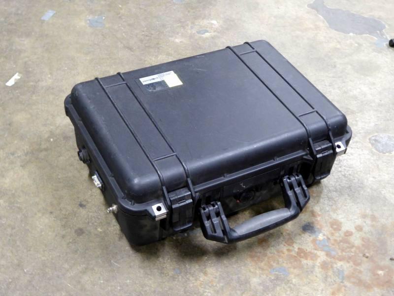 Ruggedised Peli case with built -in flat screen monitor