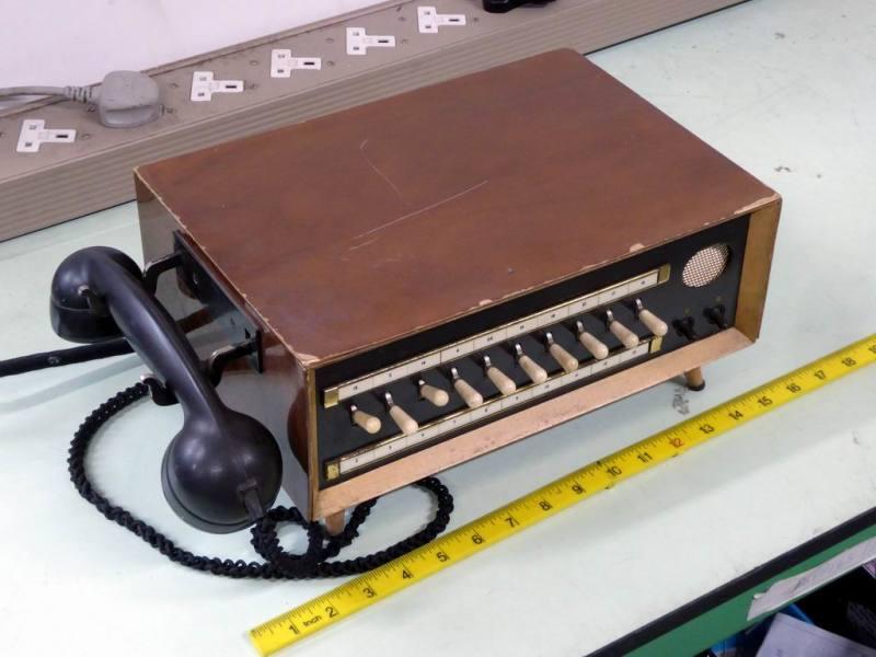 Period desktop telephone switchboard console
