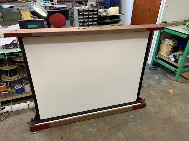 Vintage pull out projector screen