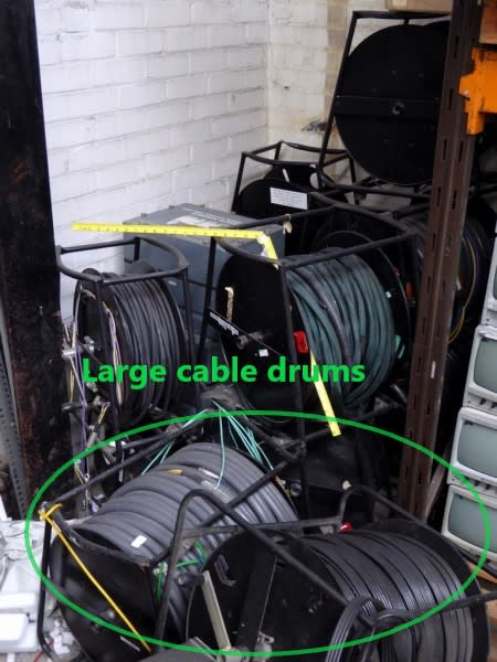 Large - Heavy duty cable drums on frames