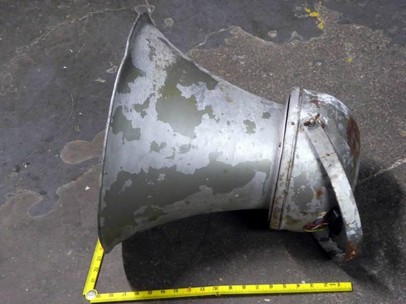Large retro industrial horn type PA loudspeaker
