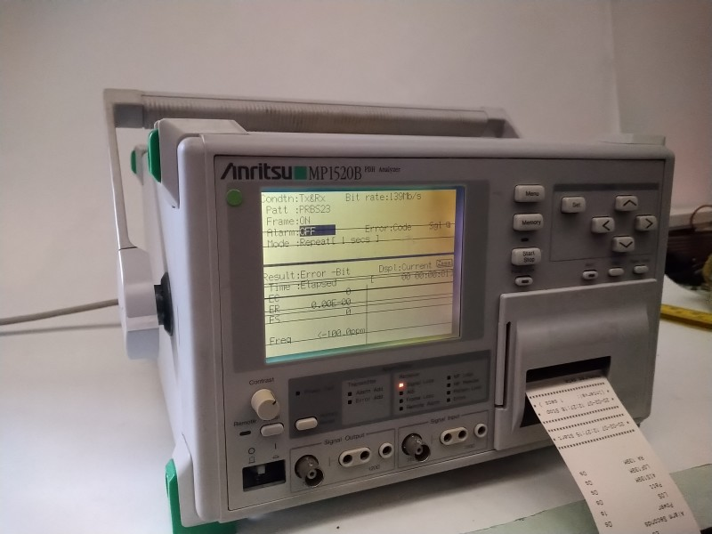 Anritsu laboratory analyzer with digital screen & strip printer