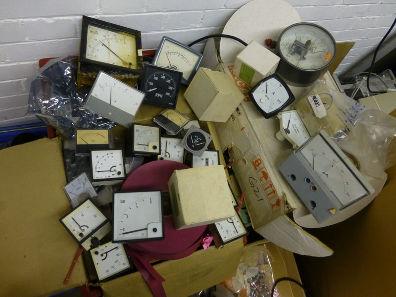 Example Selection of Contemporary & period analogue electrical meters