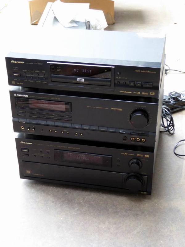 Pioneer matching hi-fi separates - amp, DVD player, tuner