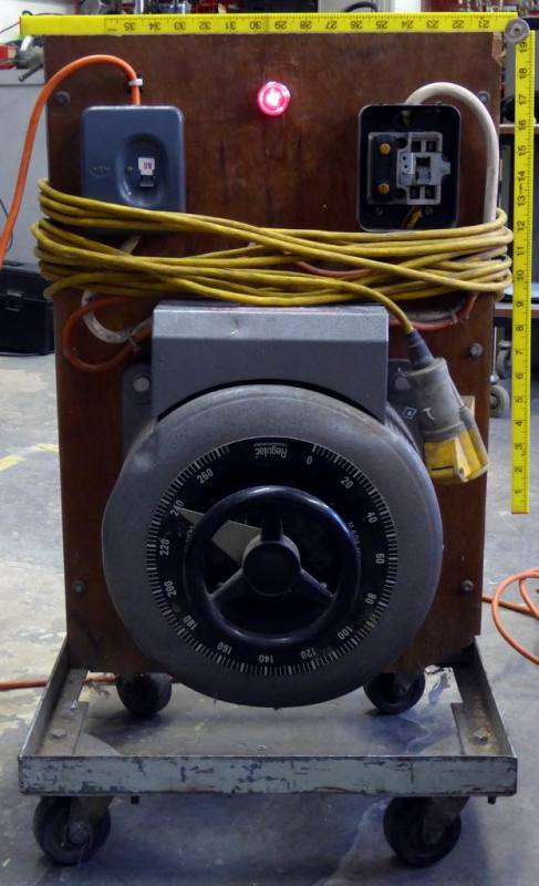 Large electrical voltage controller wheel